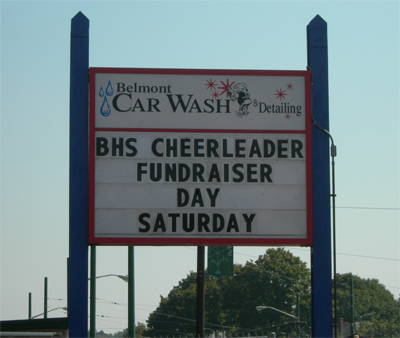 Cheerleader Car Wash Saturday